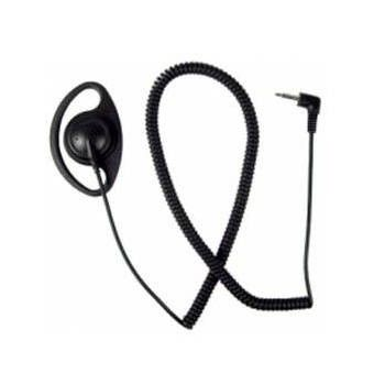 """AALO9RS2D D-Ring Listen Only Ear Piece - 25"""" Coiled Cord, 2.5mm Jack"""