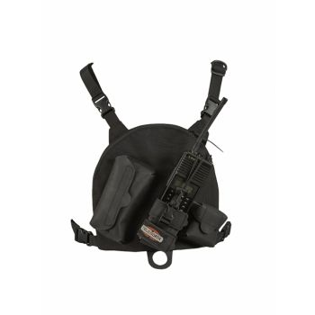 Front View of KAA0447A / LAA0447 True North Nylon Chest Pack Black for RELM BK Radio KNG