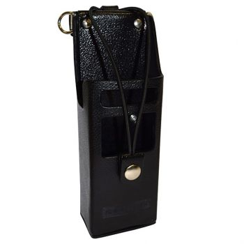 LAA0425 LCD Viewing Window Leather Holster D-Swivel Clip, Use with High Capacity Batteries for RELM BK Radio DPH, GPH