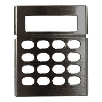 LAA0640CB Metal Keypad Cover - Stainless Steel for RELM BK Radio DPHCMD, GPHCMD