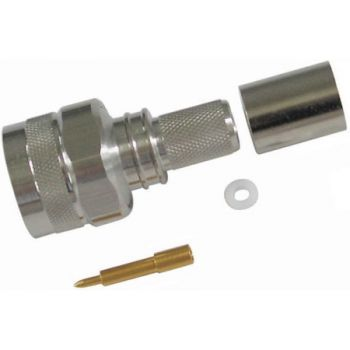 TC400NMHX N-Male Hex Head, Crimp on Connector for LMR-400 Ultra Flex Coax - Times Microwave