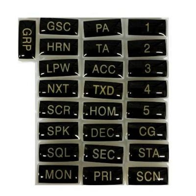 2004-30925-501 Key Caps, Silicon for RELM BK Radio DMH, GMH, EMH