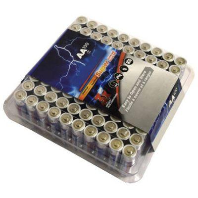 """BADS9RAA 100 Pack """"AA"""" - Non-Rechargeable Alkaline Batteries"""